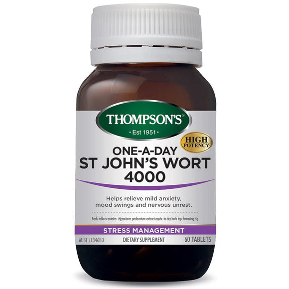 Thompsons one-a-day St John's Wort 4000 60 Tablets