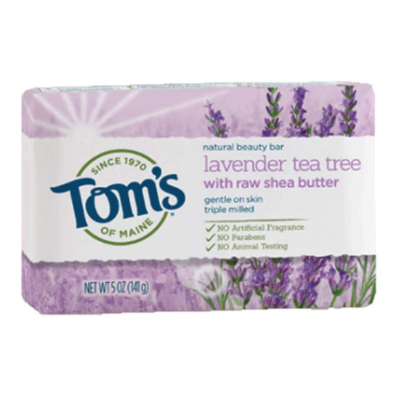 Tom's Lavender & Shea bar soap 141g