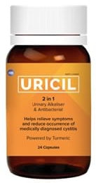 Uricil 2 in 1 Urinary Alkalizer & Antibacterial 24 Capsules