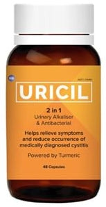 Uricil 2-in-1 Urinary Alkalizer & Antibacterial 48 Capsules