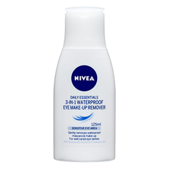Nivea 3-in-1 Waterproof Eye Makeup-Up Remover 125ml
