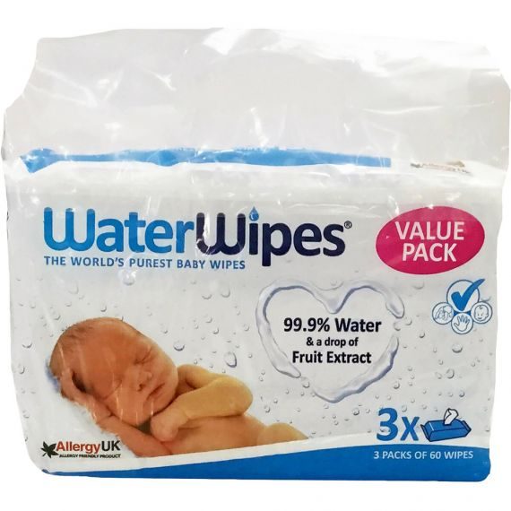 Waterwipes Baby Wipes 60 x 3 Pack