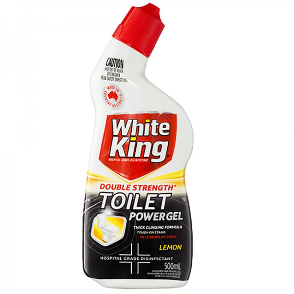 White King double strength toilet power gel 500mL