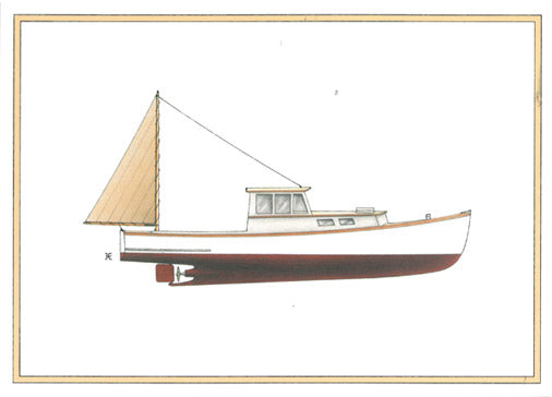 Maine Lobster Boat Notecard