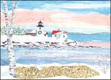 Christmas Lighthouse Print