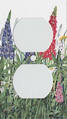 Lupine & Daisies Switch Plate