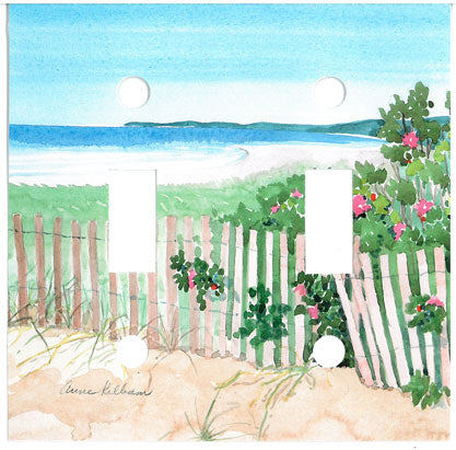 Beach, Roses & Fence Switch Plate