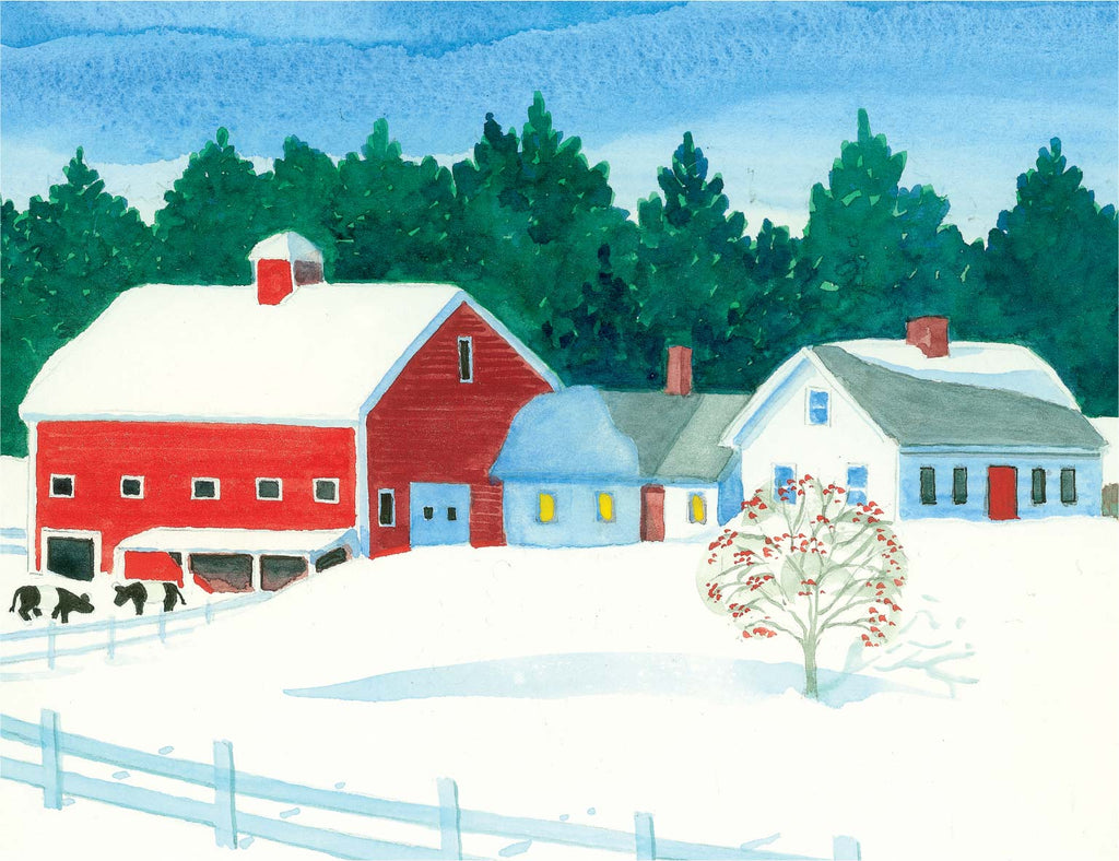 Winter Farm Print