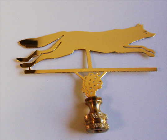 Fox with Grapes Finial