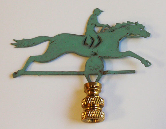 Horse with Rider Finial