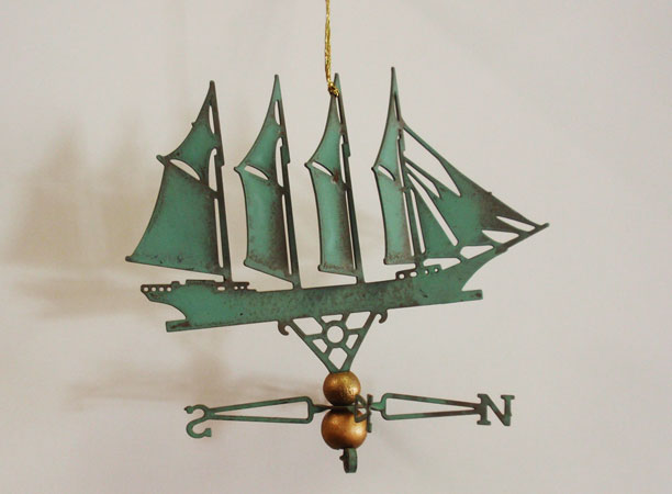 4 Mast Schooner Ornament