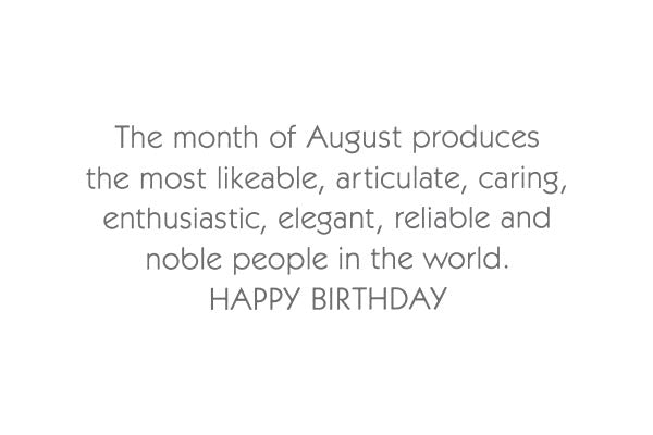 August Birthday Card