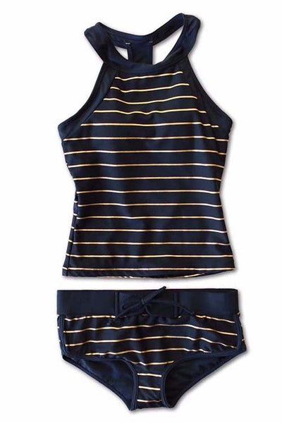 Halter Striped Tankini