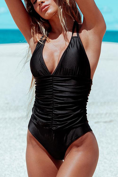 Halter Neck One Piece Swimwear