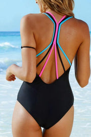 Color Rope Shoulder Strap One Piece
