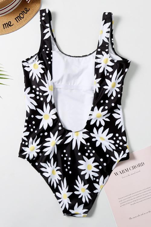 Sunflower Print One Piece