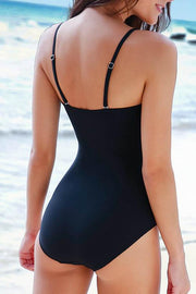Striped Pleated One Piece