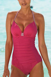 Stripe Bandage One Piece