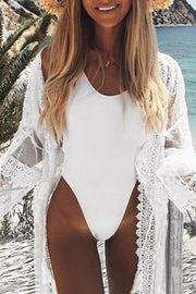 Lace Sheer Splicing Cover Up