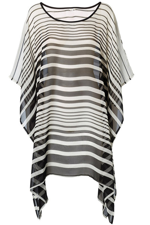 Chiffon Stripe Cover Up