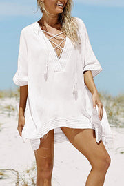 V Neck Bandage Cover Up