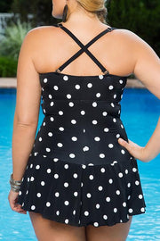 Plus Size Dot Print Skirtini