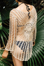 Bohemian Colored Knit Cover Up
