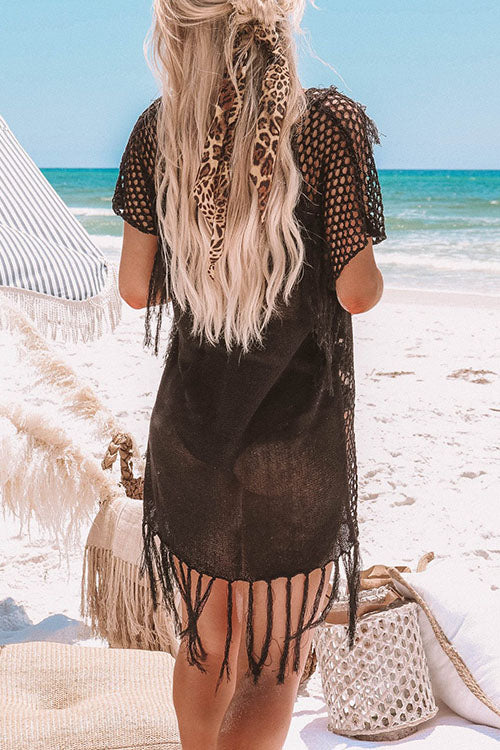 Tassel Hollow Cover Up