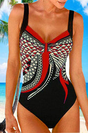 Ethnic  Geometric Print One Piece
