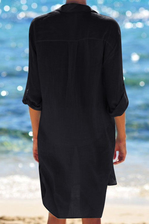 Pocket Long Sleeve Cover Up