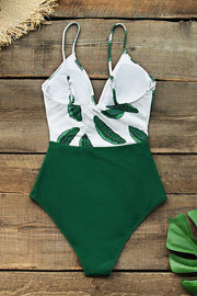 Leaf Twist-Front One Piece