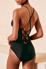 V-Neck Hollow One Piece