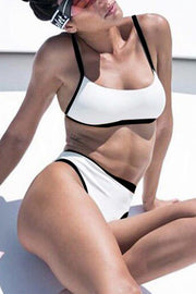 High Waist Colorblock Bikini