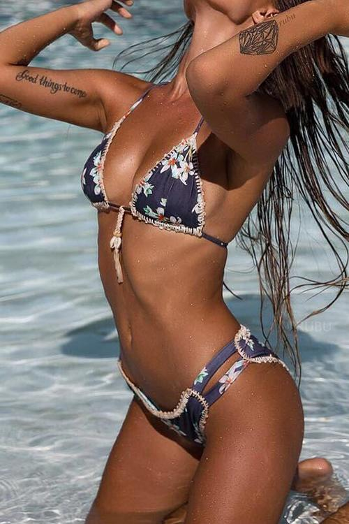 Printed Braided Bikini