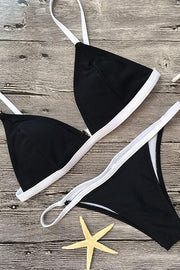 2 Piece Color Block Triangle Bikini