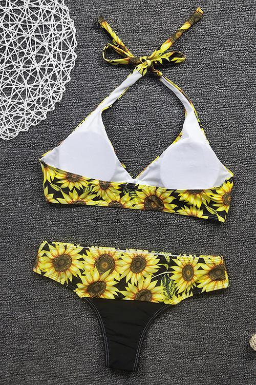 Daisy Sunflower High Waist Bikini