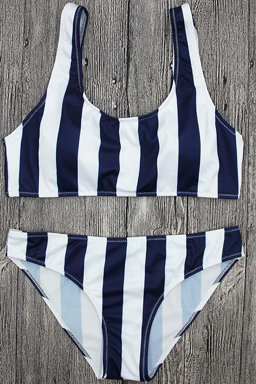 Striped Print Bikini