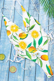 Lemon Print Straps One Piece