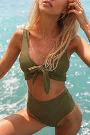 Lace-Up High-Waist Bikini