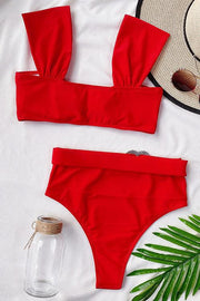 Love Decorated High Waist Bikini