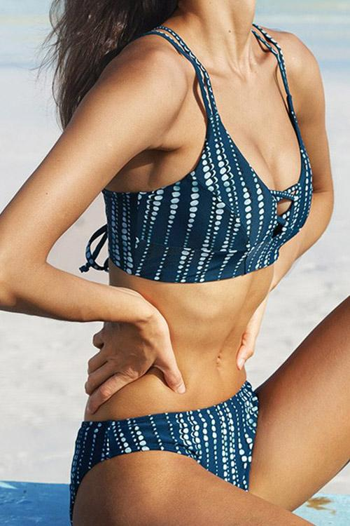 Polka Dot Striped Bikini