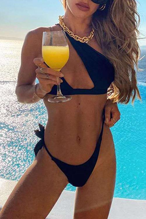 One Shoulder Sexy Asymmetric Bikini