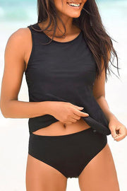 Simple Basic Solid Color Tankini