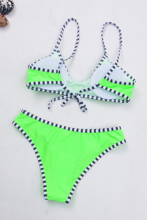 Striped Covered Tie Bikini