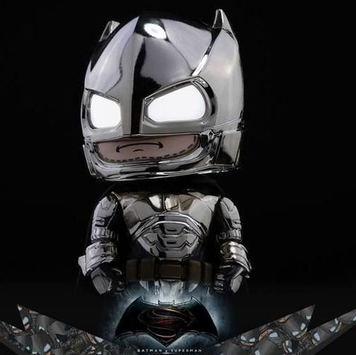 Batman V Superman Dawn of Justice - Batman Armored Chrome Version Cosbaby Figure Hot Toys