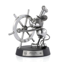 Load image into Gallery viewer, Mickey Mouse -  Steamboat Willie Steering Limited Edition Figurine Statue Royal Selangor