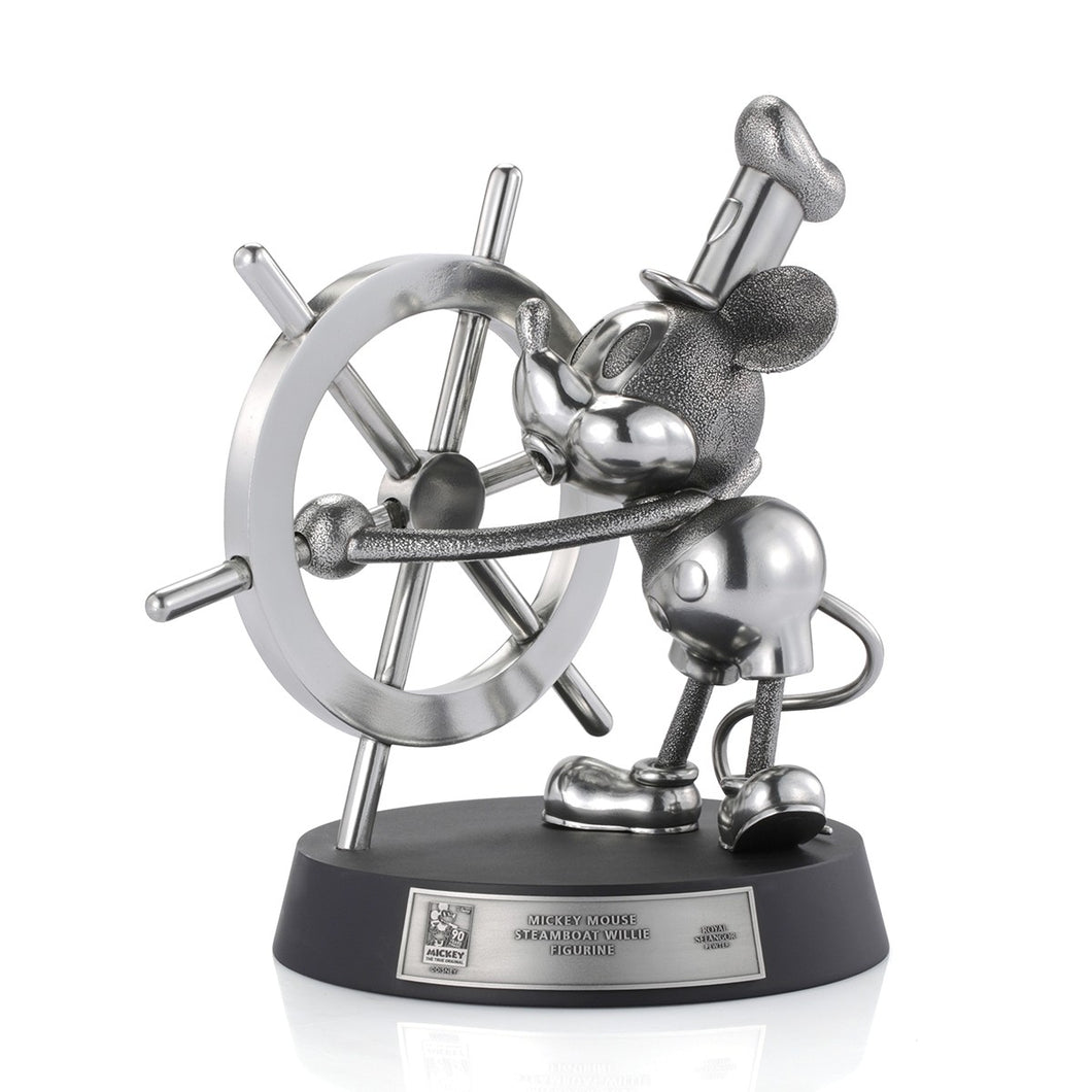 Mickey Mouse -  Steamboat Willie Steering Limited Edition Figurine Statue Royal Selangor