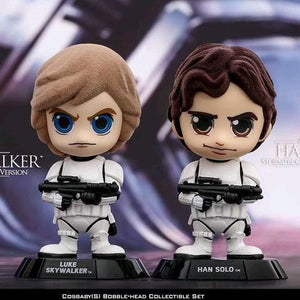 Star Wars - Luke Skywalker & Han Solo in Stormtrooper Disguise Version Set of 2 Cosbaby Hot Toys