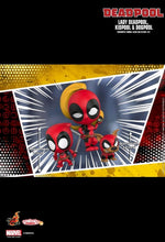 Load image into Gallery viewer, Deadpool - Lady Deadpool, Kidpool & Dogpool Set of 3 Cosbaby Bobble-head Hot Toys