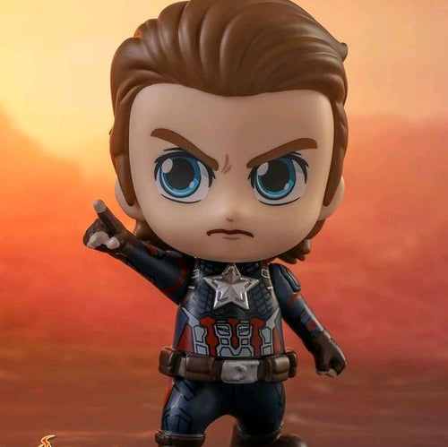 Avengers 4 Endgame - Captain America Unmasked Version Cosbaby Bobble-head Hot Toys